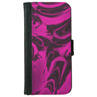 Pink and black fractal iPhone 6 wallet case
