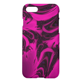 Pink and black fractal iPhone 8/7 case