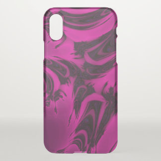 Pink and black fractal iPhone x case