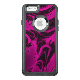 Pink and black fractal OtterBox iPhone 6/6s case
