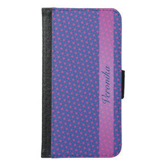 Pink and black fractal samsung galaxy s6 wallet case