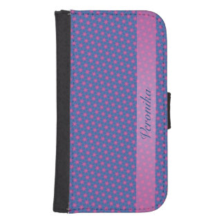 Pink and black fractal samsung s4 wallet case