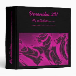 Pink and black fractal vinyl binder