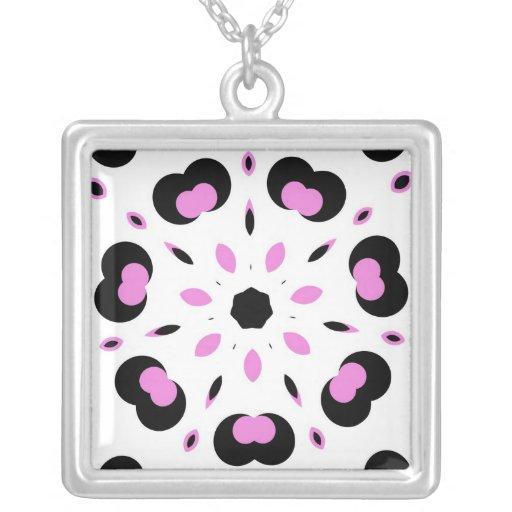 Pink and Black Fun Design Pendants