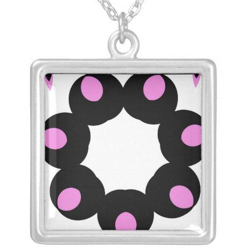 Pink and Black Fun Design Jewelry