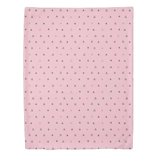 Pink and black geometric pattern Duvet cover