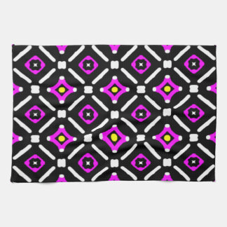 Pink and Black God's Eye Pattern Kitchen Towel