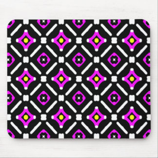 Pink and Black God's Eye Pattern Mouse Pad
