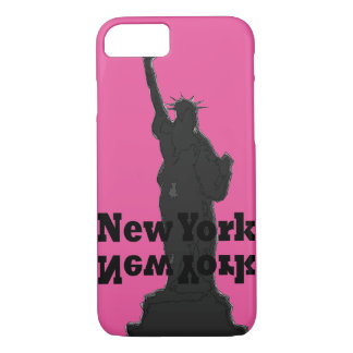Pink and Black iPhone Case New York City Bold