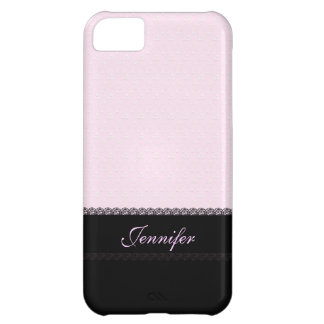 Pink and Black Lace iPhone 5C Cover