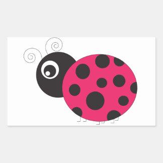 Pink and Black Ladybug Faded