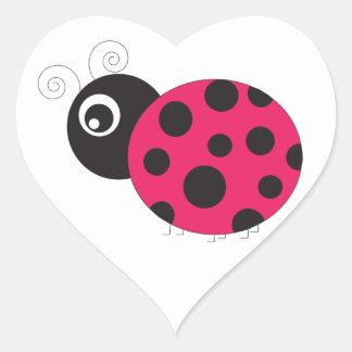 Pink and Black Ladybug Faded Sticker