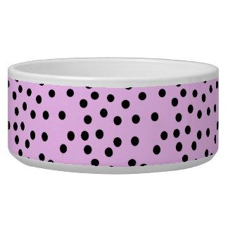 Pink And Black Large Polka Dots