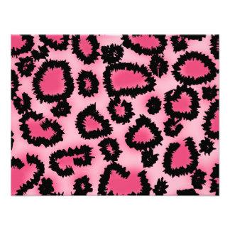 Pink and Black Leopard Print Pattern. Invitations