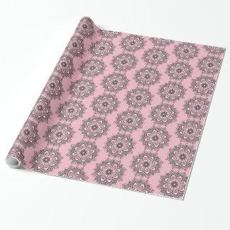 Pink and Black Mandala Pretty Gift Wrap