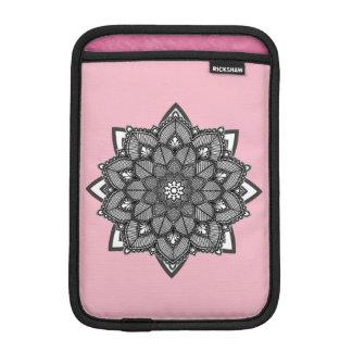 Pink and Black Mandalas iPad Case