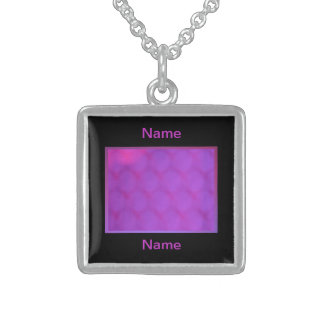 Pink and Black Name Custom Necklace