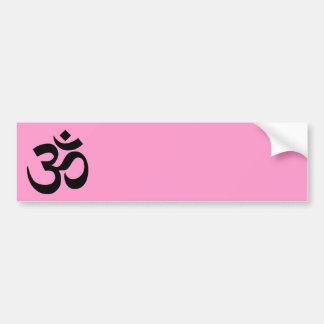 Pink and Black Om Symbol Bumper Sticker