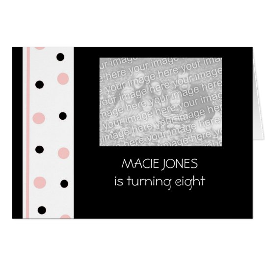 Pink and Black Party Invitations:  Customize Card