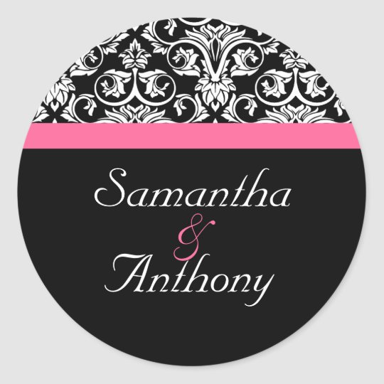 Pink and Black Passion Matching Envelope Seal