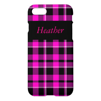 Pink and Black Plaid iPhone Case