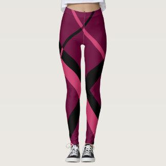 Pink and Black Plaid Leggings