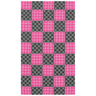 Pink and Black Plaid Tabelcloth Tablecloth