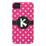 Pink and Black Polka Dot iPhone Case iPhone 4 Cover