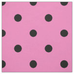 Pink and Black Polka Dot Pattern Fabric
