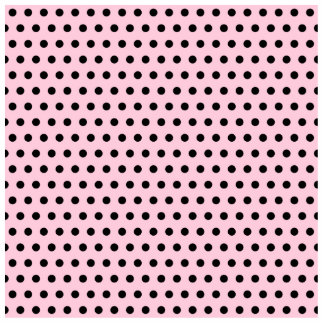 Pink and Black Polka Dot Pattern. Spotty. Photo Sculpture
