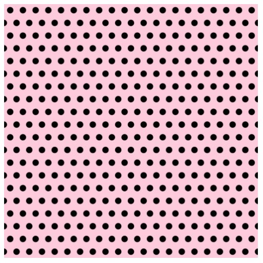 Pink and Black Polka Dot Pattern. Spotty. Photo Sculpture