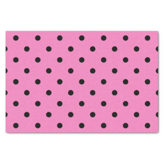 Pink and Black Polka Dots Tissue Paper