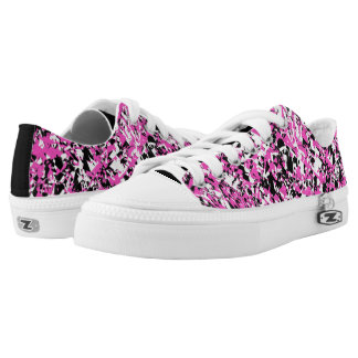 Pink and Black Shattered Glass Low-Top Sneakers