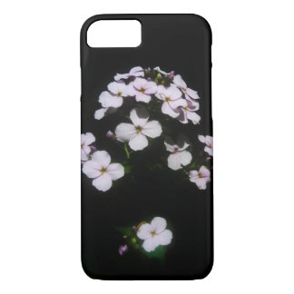 Pink and black small flower phone case