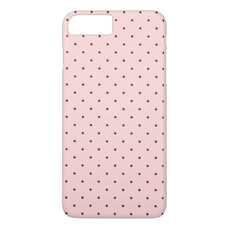 Pink and Black Small Polka Dots Pattern iPhone 7 Plus Case