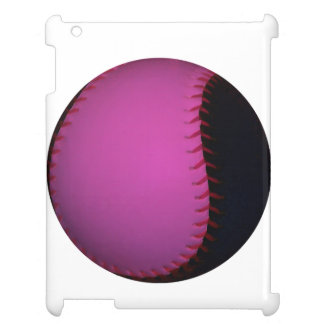 Pink and Black Softball Case For The iPad