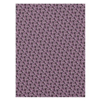 Pink and Black Speckles Tablecloth