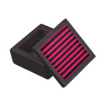 Pink and Black Stripe Background Premium Trinket Boxes