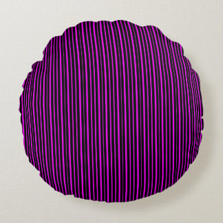 Pink and Black Stripes Throw Pillow