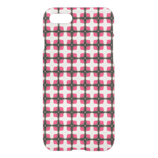 Pink and Black Stylish Classy Pattern iPhone 7 Case