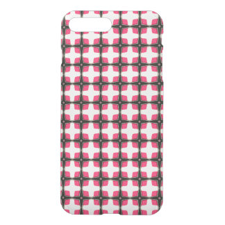 Pink and Black Stylish Classy Pattern iPhone 7 Plus Case