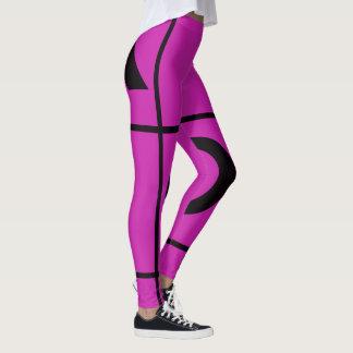 Pink And Black Tic Tac toe! Leggings