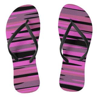 Pink and Black Tiger Camo Flip Flops