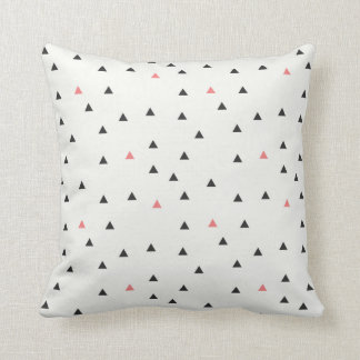 Pink and Black Triangle Pattern Pillow