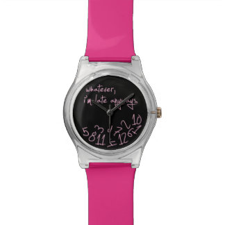 Pink and Black Whatever Watch