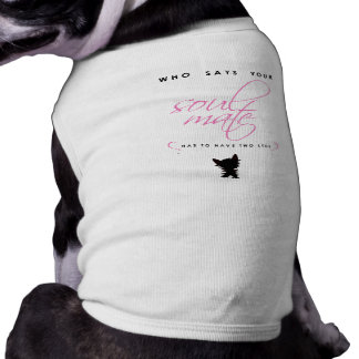 Pink and Black Yorkie Soul Mate Silhouette Pet Shirt