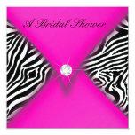 Pink and Black Zebra Bridal Shower