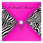 Pink and Black Zebra Bridal Shower Invite