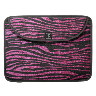 Pink and Black Zebra Print bling (faux glitter) Sleeves For MacBooks