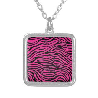 pink and black zebra stripe pendants